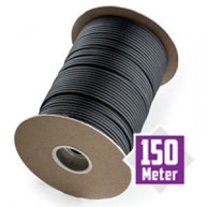 Black spool 550 type 3 paracord Ø 4mm (150m)