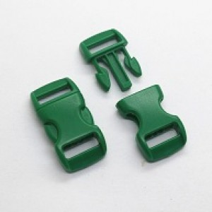 Groene kunststof buckle 3/8 (S)
