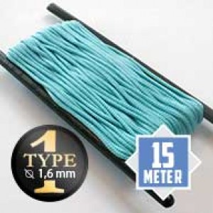 Turquoise type I paracord Ø 2mm (15m)