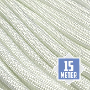 White 550 type 3 paracord Ø 4mm (15m)