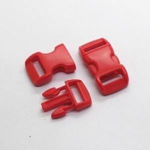 Rode kunststof buckle 3/8 (S)