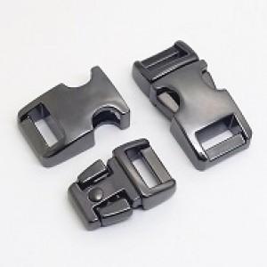 Gunmetal black metalen buckle 3/8 (S)