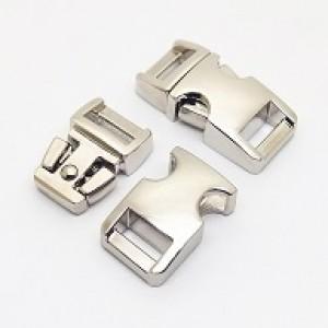 Glanzend zilver metalen buckle 5/8 (M)